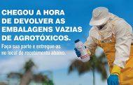 Campanha de Recolhimento de Embalagens de Agrotóxicos | Dias 31/08 e 01/09 pela manhã na Fazenda do Estado
