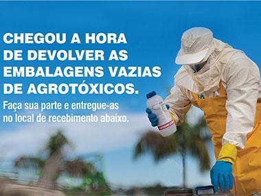 Campanha de Recolhimento de Embalagens de Agrotóxicos   Dias 31/08 e 01/09 pela manhã na Fazenda do Estado