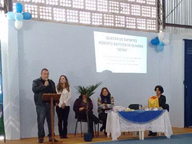Homenagem ao servidor público Roberto Baptista de Oliveira (Betão), na escola Cel. Ribeiro da Luz, com seus familiares