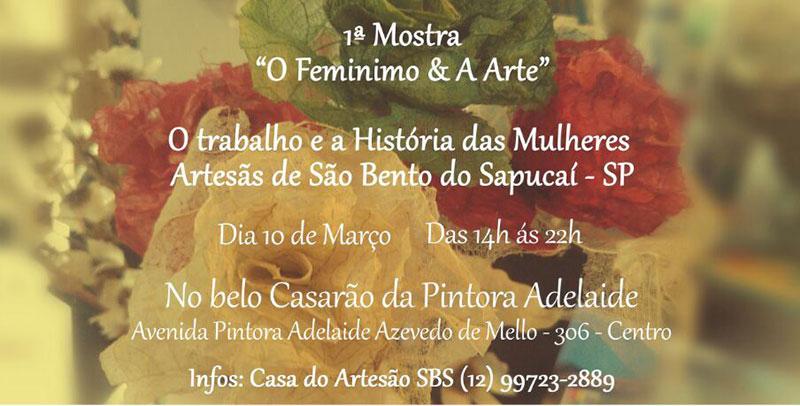 O Feminino e a Arte – 1ª Mostra das Mulheres Artesãs de São Bento