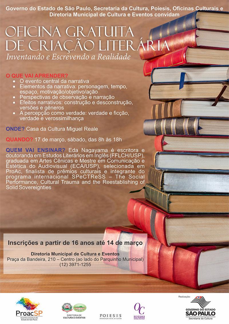 POIESIS e Diretoria de Cultura e Eventos realizam oficina literária