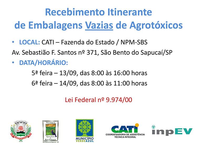 Programa Sistema Campo Limpo - logística reversa de embalagens vazias de defensivos agrícolas