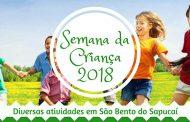 Confira as atividades da Semana da Criança em São Bento do Sapucaí