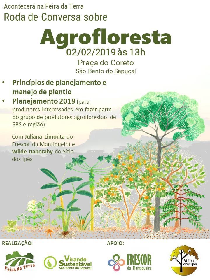 Feira da Terra e Virando Sustentável promovem Roda de Conversa sobre Agrofloresta neste sábado!