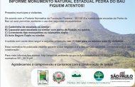 ATENÇÃO: Informe MoNa Pedra do Baú