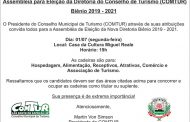 Assembléia de Eleição para a Diretoria do Conselho de Turismo Biênio 2019-2021