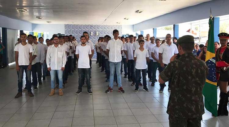 Sambentistas participam de Cerimônia de Dispensa do Serviço Militar