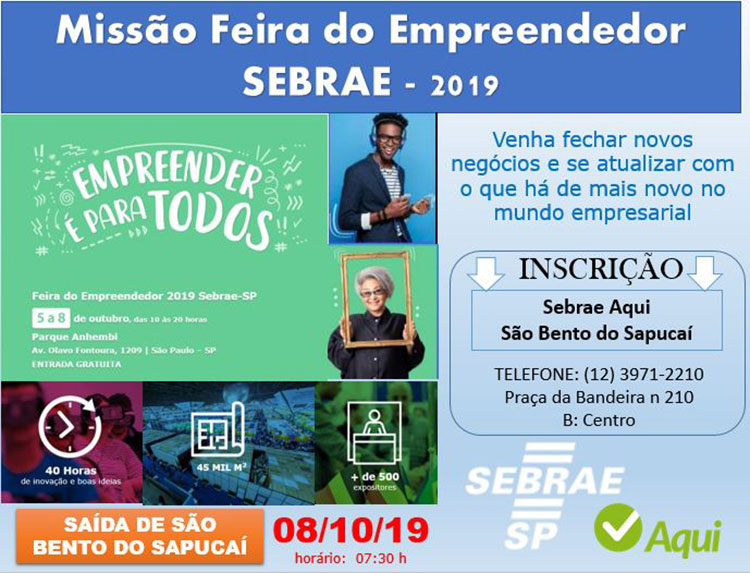 Inscrições abertas para a Feira do Empreendedor em São Paulo