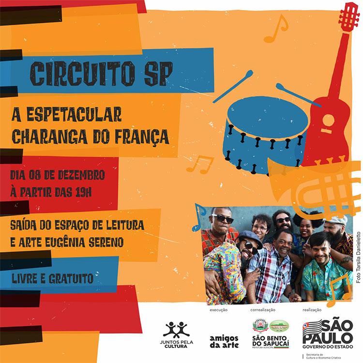E vai ter pré-Carnaval com o Circuito Cultural Paulista em dezembro sim!