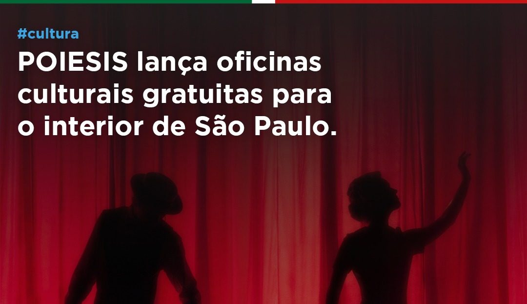 POIESIS lança oficinas culturais gratuitas para o interior de São Paulo