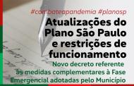 Novo decreto referente às medidas complementares à Fase Emergencial adotadas pelo Município