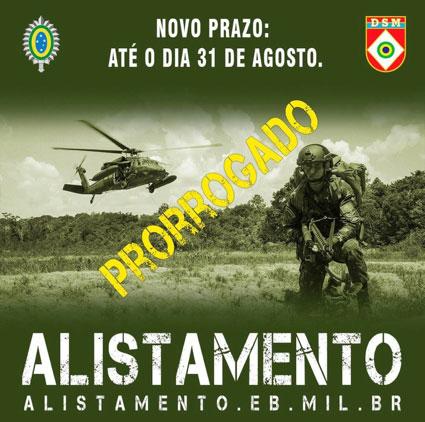 Novo Prazo de Alistamento Militar 2021