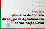 Números de contato da Equipe de Agendamento de Vacinação