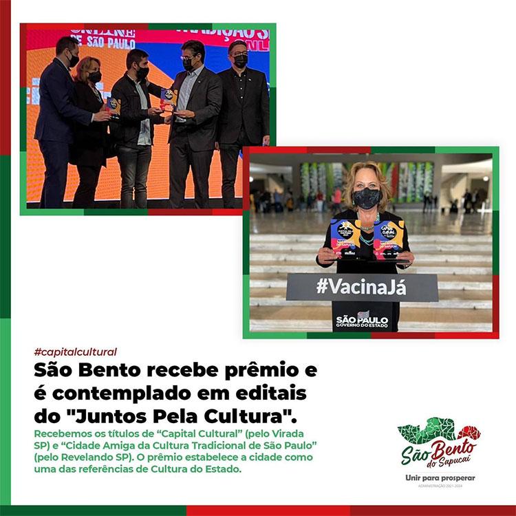 São Bento do Sapucaí recebe prêmio e é contemplado em editais do Juntos Pela Cultura!
