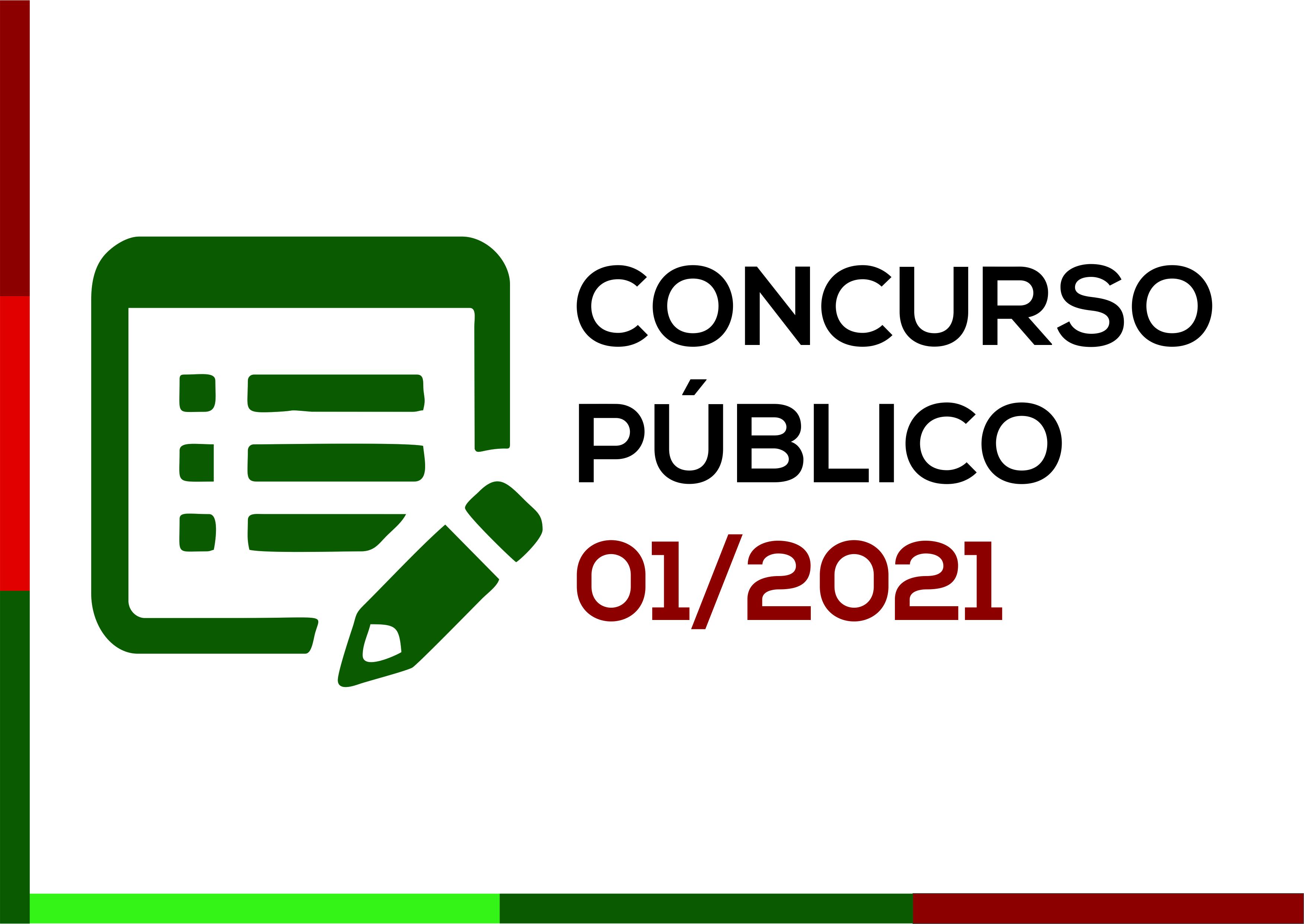 Prefeitura abre o Concurso Público nº 01/2021